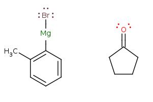 CC1=[C:5](C=CC=C1)[Mg:6]Br.C1CC[C:1](=[O:2])C1